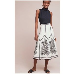 Anthropologie Lazaro Pommed Skirt